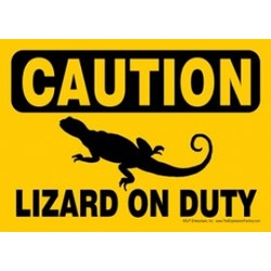 Express Yourself Signs - CAUTION - Lizard on duty (4/case)